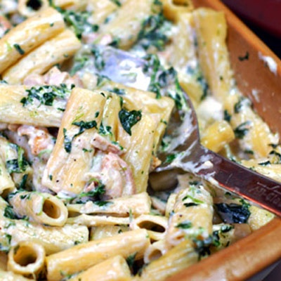 Grilled Chicken Rigatoni Florentine – This is Italian-inspired comfort food at its finest.
