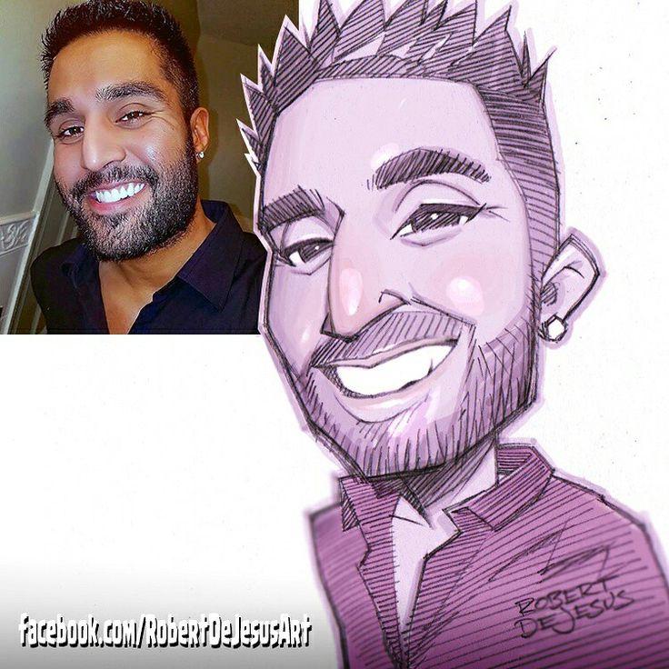 Coffee_dude08 sketch.  #smile #grinning #beard #selfie #drawing #portrait #sketch #drawing #animestyle