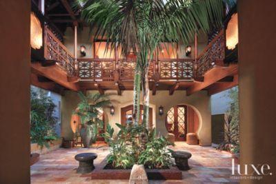 Exotic Interior Courtyard