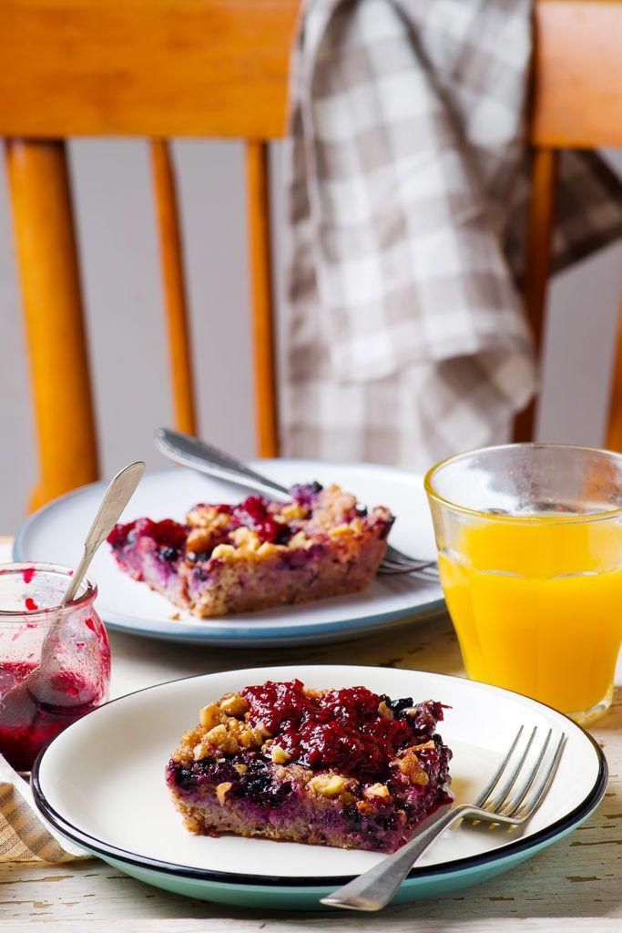Запеченная овсянка с ягодами — Кулинарный Блог