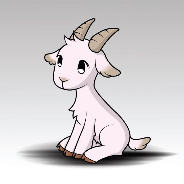 Cute Cartoon Goat Goat Cartoon Goat Art Cartoon Drawings
