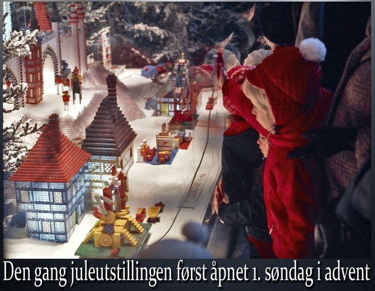 Mens julebrusen omtrent kommer i butikkene rett etter sommerferien idag, så ventet man alltid til første søndag i advent i gamle dager. Da var det juleutstilling med spennende saker i vinduene:)