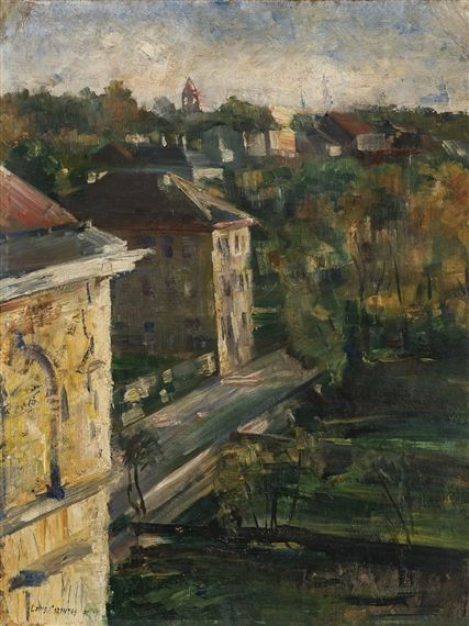 Lovis Corinth - View from the Studio, Schwabing (1891)