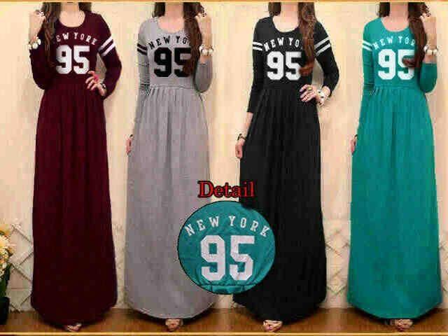 Maxi dress wanita maxi newyork 95 S426