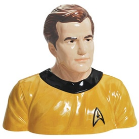 Kirk Cookie Jar: Cookies Jaramazonkitchen, Captain Kirk, Jars Recipe, Stars Trek, Startrek, Cookie Jars, Kirk Cookies, Star Trek, Cookies Jars
