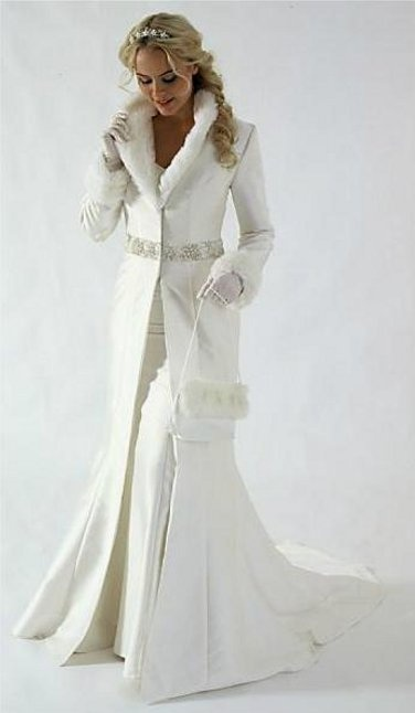 ❤❤❤  winter Wedding dress, white, Beautiful, Marriage ❤❤❤