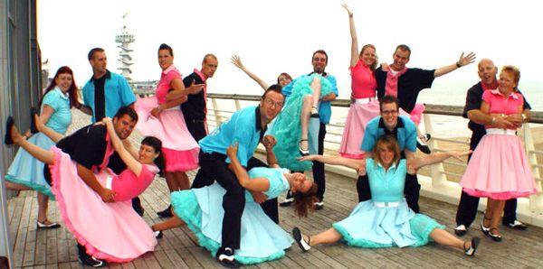 Rock-'n-rolldansen zijn meestal snelle dansen op rock-'n-rollmuziek, ontstaan uit swingdansen toen rock-'n-roll de jazz verving als populaire muziek. In het stijldansen is de (daar als latindans opgenomen) jive een van deze dansen. Verder zijn onder andere boogiewoogie en acrobatisch rock-'n-roll rock-'n-rolldansen. In films als Grease en Footloose zijn deze dansen te zien.