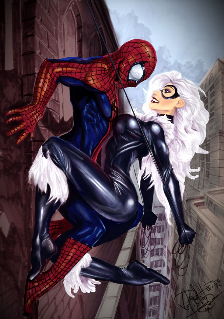 Black Cat Marvel and Spider-Man | Spiderman and Black Cat    I want pose like this with my hubby