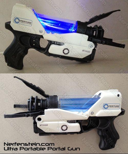 Nerfenstein.com Ultra Portable Portal Gun (via Super Punch)