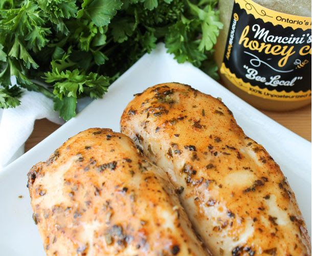 Baked Honey Mustard Chicken -  I added a tsp of minced garlic to the sauce.... very yummy. Kids asked for this for their lunch boxes.