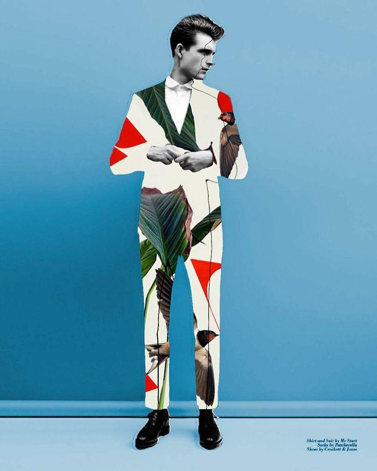 Hoy él ha salido al jardín para hacer su traje. #artwork de @bastianilk. #collage #buenosdias #talentoit #inspiración by itfashion