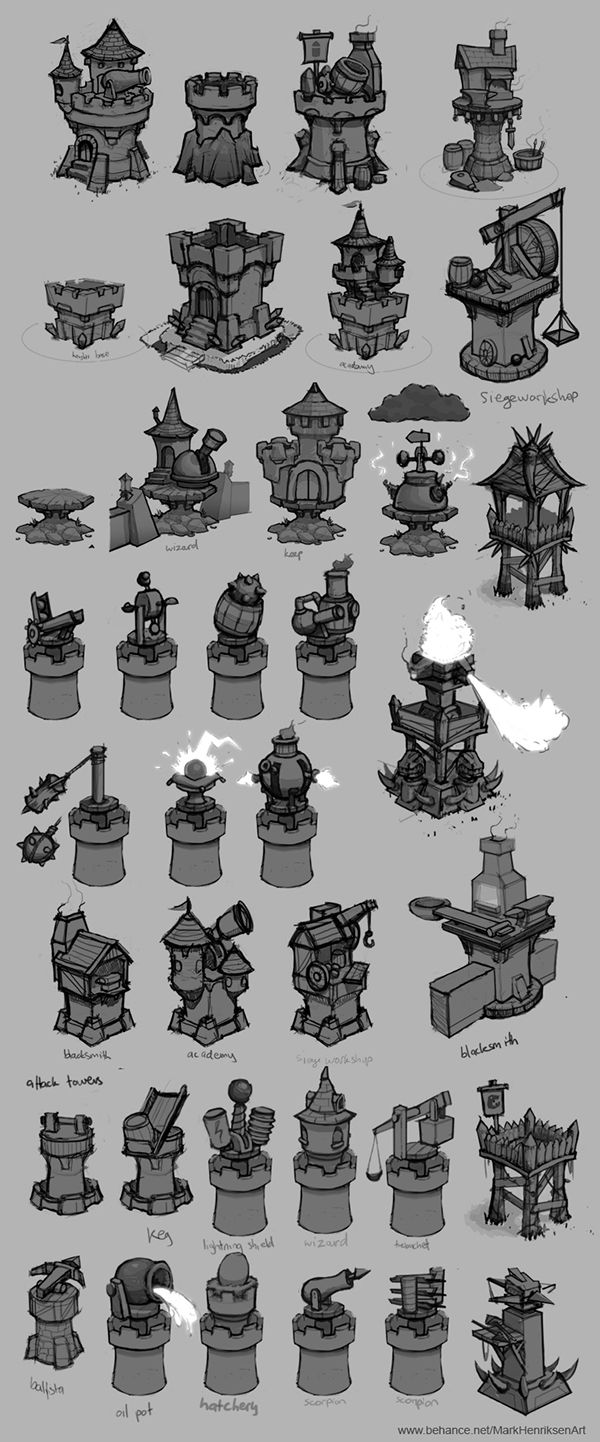 Tower designs (Concept art) on Behance