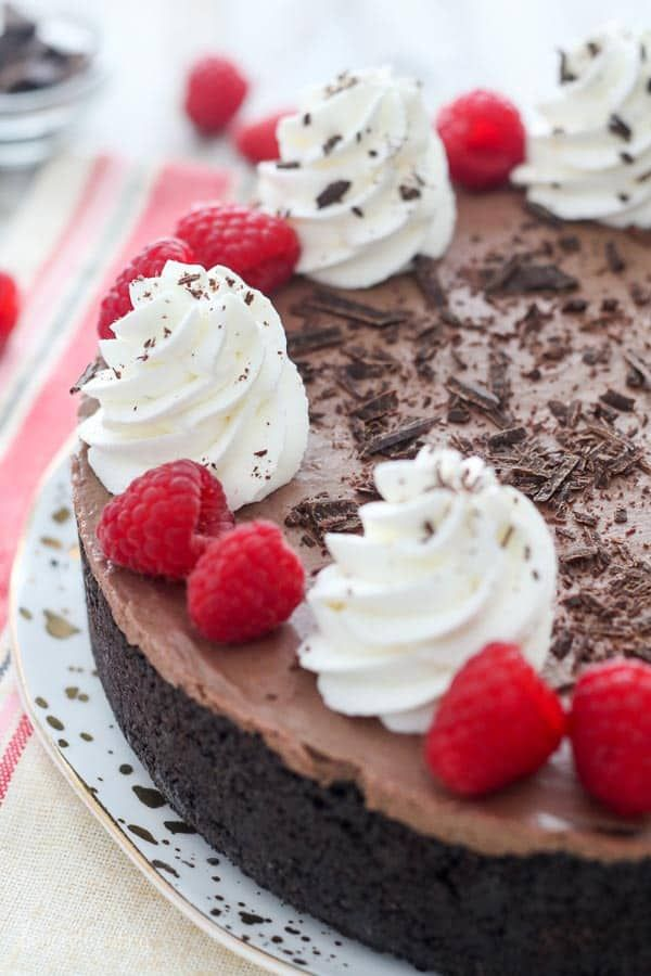 No Bake Chocolate Raspberry Cheesecake Chocolate Raspberry Cheesecake Raspberry Desserts Chocolate Raspberry Cake Recipe