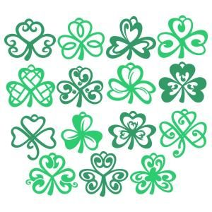Shamrock Pack Irish Lucky Leaf Cuttable Design Cut File. Vector, Clipart, Digital Scrapbooking Download, Available in JPEG, PDF, EPS, DXF and SVG. Works with Cricut, Design Space, Sure Cuts A Lot, Make the Cut!, Inkscape, CorelDraw, Adobe Illustrator, Silhouette Cameo, Brother ScanNCut and other compatible software.