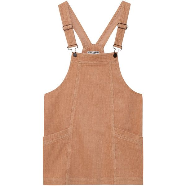 Corduroy pinafore dress ($25) ❤ liked on Polyvore featuring dresses, pinafore dress, pinny dress, beige dress, corduroy dress and corduroy pinafore dress