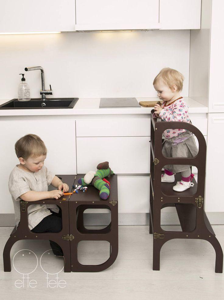 Helferturm Tisch Stuhl Aus Einem Guss Step N Sit Montessori Lernhelferturm Kuchen Trittleiter Stuhle Fur Kinder Kindertisch Und Stuhle Tisch Und Stuhle
