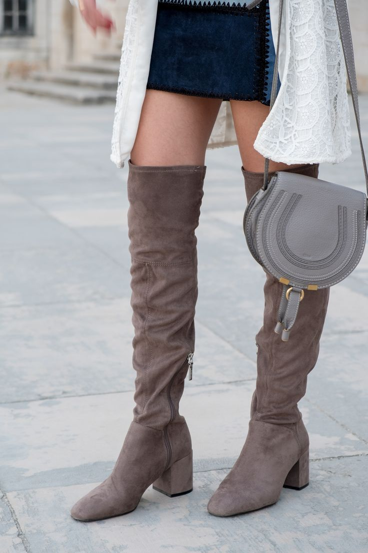 Can short women wear over the knee boots? -  #Blue #Boots #cardigan #coat #cotton #Earrings #Gold #Grey #H&M #hat #Hoop #lace #Leather #overthekneeboots #parfois #Patchwork #ruffles #shadesofblue #shirt #Skirt #style #Suede #swissembroidered #Tips #uterque #Wool #zara