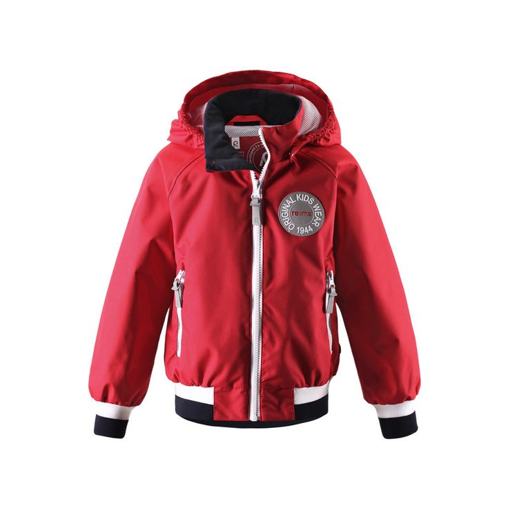 This kids' mid-season jacket is inspired by 70ies Reima® garments and finished off with a modern, sporty twist. #reima #kidswear #outdoors #ss16