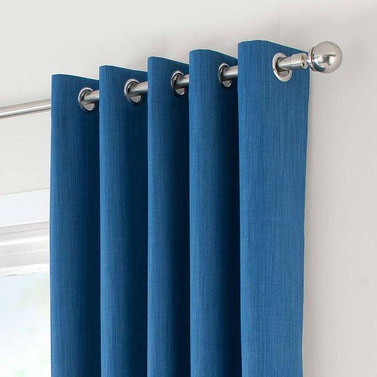 Solar Blue Blackout Eyelet Curtains Blackout Eyelet