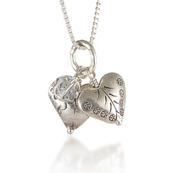 two silver heart necklaces for valentines! £34