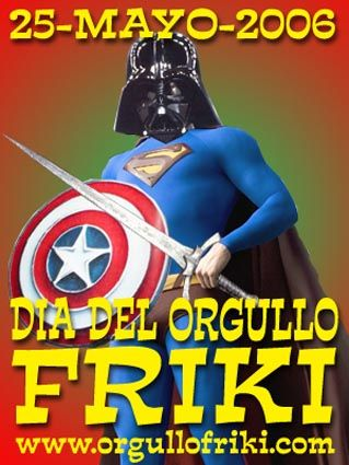 "In Spain today we celebrate ""El Dia del Orgullo Friki"" , basically the day of the ""geek pride"" .We love it!"