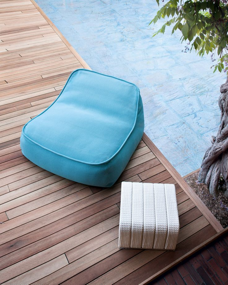 Love all paola lenti outdoor beds/chairs.  I'm sure we cannot afford originals.  paola lenti outdoor pouf chair | Float - Paola Lenti