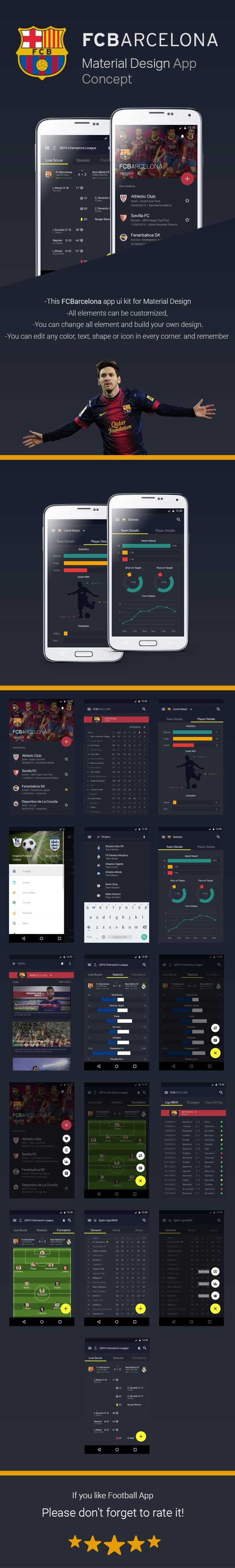 FCBarcelona Material Design App Concept on Behance