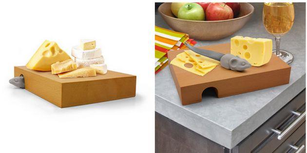 Porta queijo com facas de ratinho