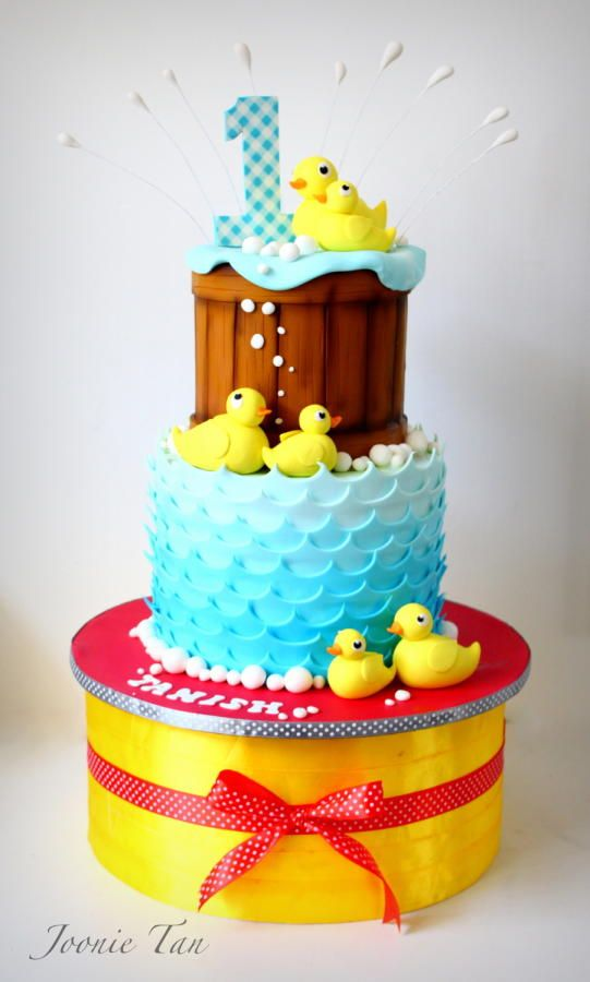 234 best Ducky Cakes images on Pinterest Baby shower cakes