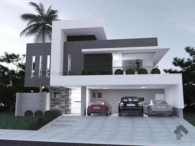 Venda Sobrado Condomínio Pq. Residencial Damha III Campo Grande 196163 |  INFOIMÓVEIS. Modern ArchitectureHouse DesignFacadeGreat ...