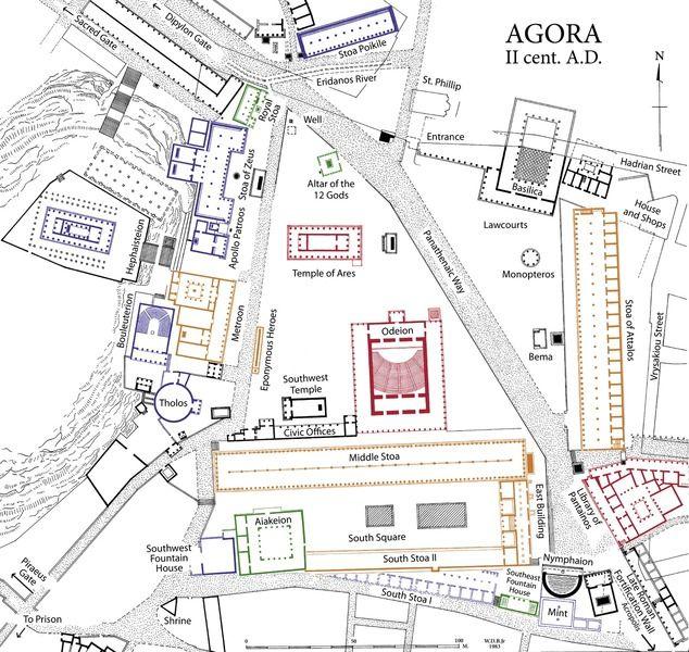 Site Plan of the Athenian Agora