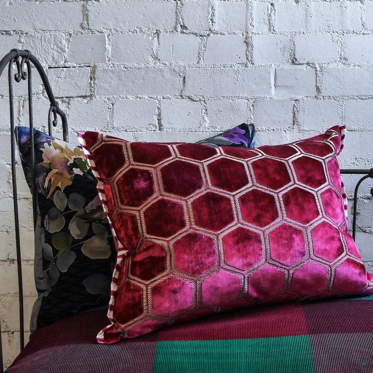 Designers Guild Manipur Fuchsia Cushion Small Acorns