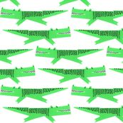 cute as a shower curtain - alligator by anda, click to purchase fabric