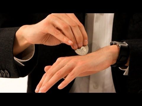 "How to Pass a Coin through the Hand | Coin Tricks - Great party trick & icebreaker - ""Let me show you a magic trick."""