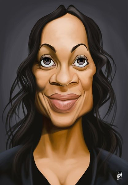 'Celebrity Sunday - Rosario Dawson' by rob-art on artflakes.com as poster or art print $14.38 art | decor | wall art | inspiration | caricatures | home decor | idea | humor | gifts