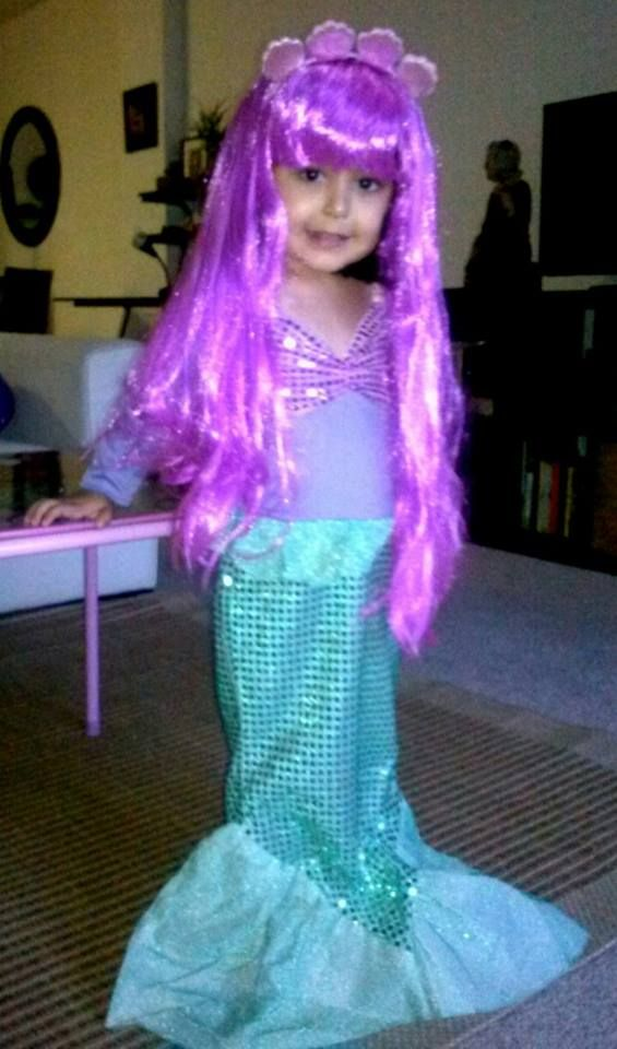 Adorably cute purple mermaid - thanks Maryanne for sharing!