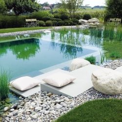 Collection of 19 incredible natural swimming pools! (via Elle Decor)Ponds, Outdoor, Gardens, Swimming Pool, Natural Swimming Pools, Natural Pools, Nature Pools, Design, Nature Swimming Pools