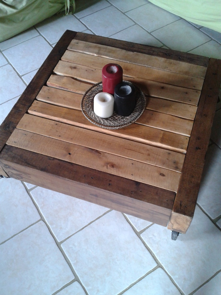 10 best fabrication en bois de palettes images on pinterest recycled wood wooden pallets and. Black Bedroom Furniture Sets. Home Design Ideas