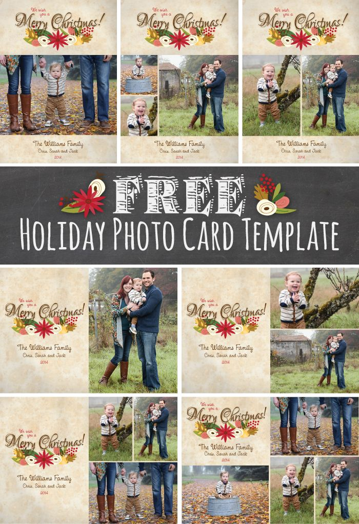 It's time to start thinking about Christmas cards, and here's a free template for you to add your photos to and print at home!