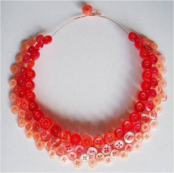 Best Crafts Buttons Images On Pinterest Button Button - Bright diy layered button necklace