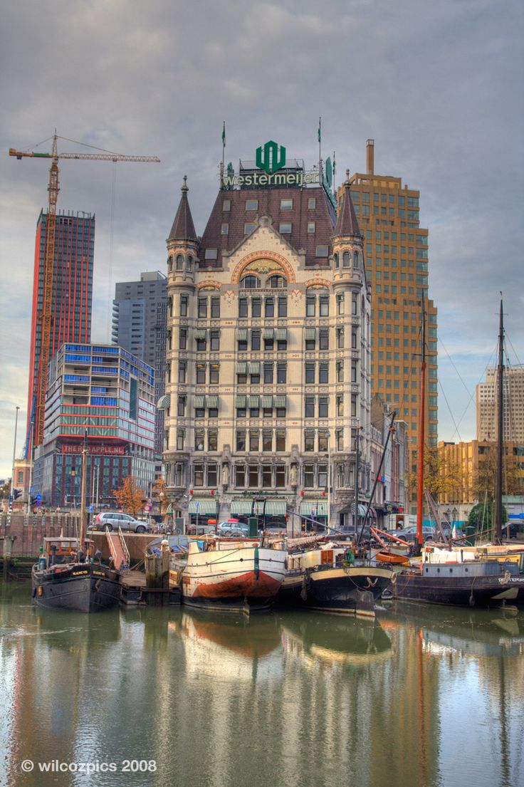 Het witte huis in Rotterdam.