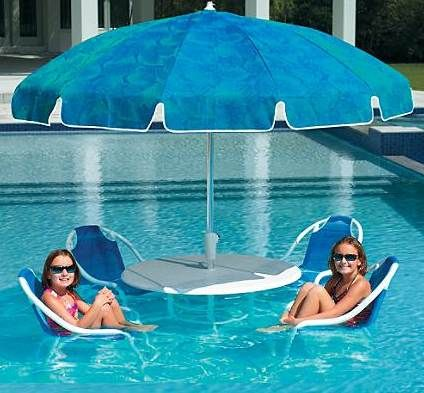 Pool party seating might turn you into a pool fish
