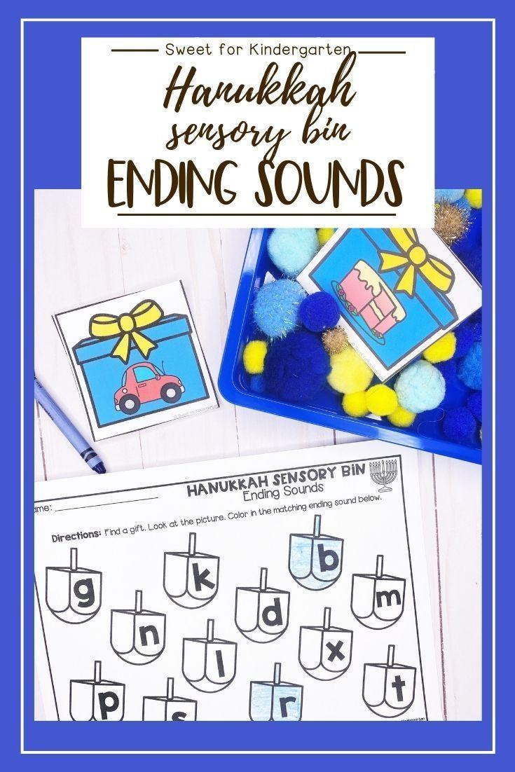 Hanukkah Sensory Bin Ending Sounds Fun Phonics Activities Phonics Activities Sensory Bins [ 1102 x 735 Pixel ]