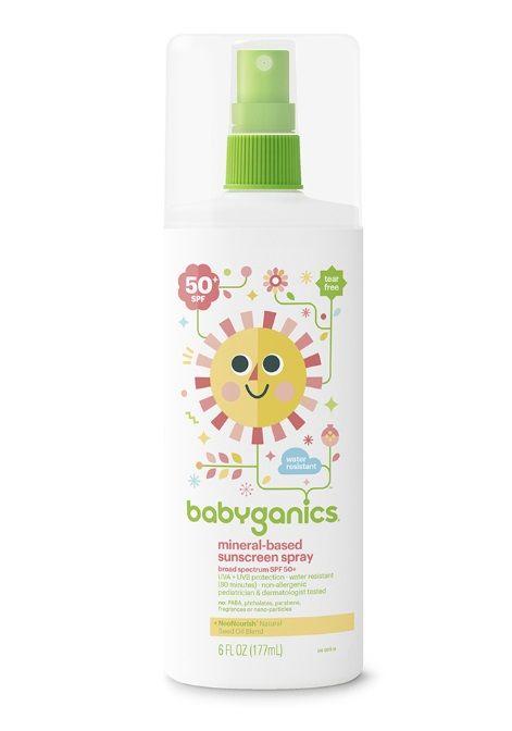 Babyganics Mineral-based Sunscreen Spray, 50+ SPF