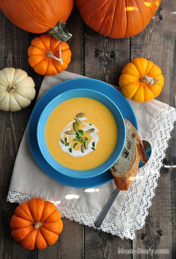 Самый вкусный тыквенный крем суп рецепт со сливками, с нежной текстурой,