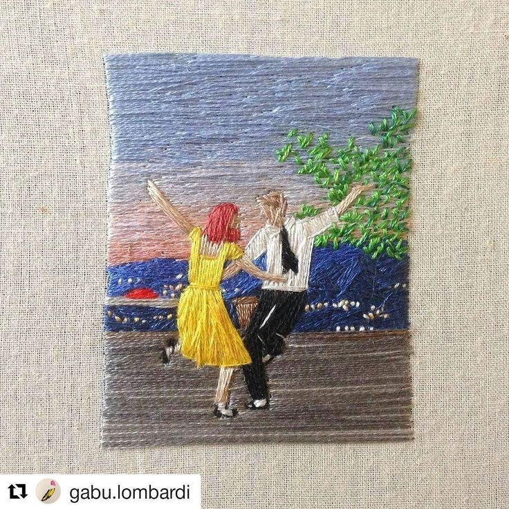 I enjoyed La La Land a lot more than I expected. #ryangosling was great on the piano and the dancing was pretty tasty! This stitchery from @gabu.lombardi does the film justice I reckon! What did you think of it? #regram  An embroidery for the ones who dream foolish as they may seem #lalaland #lalalandmovie #handembroidery #musicals #emmastone #dancing #mandymoore #creativityfound #thatsdarling #mrxstitch via The Mr X Stitch official Instagram  Share your stitchy 'grams with us - @mrxstitch…