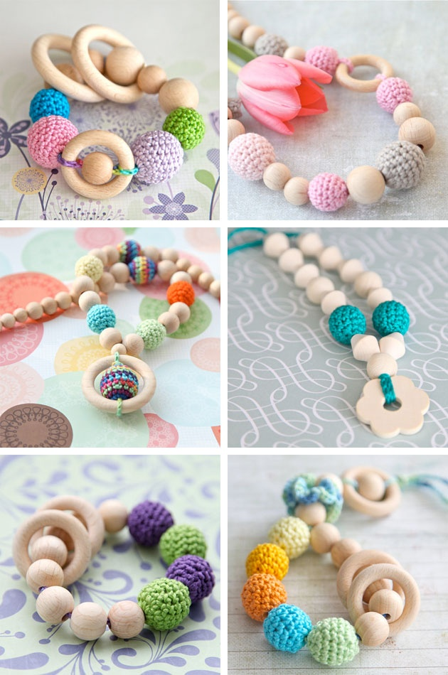Style Collective - Teethers, Teething Rings, Wooden, Organic by Nihama