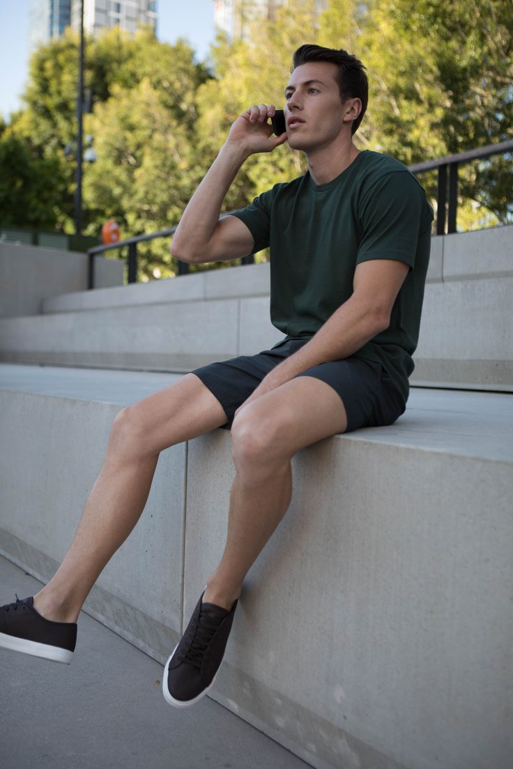 Non Stop Shorts | Cobba launch collection | Men's fashion | Men's shorts | Urban men | City life | Urban living | Gym shorts | Mid length | Everyday Shorts |