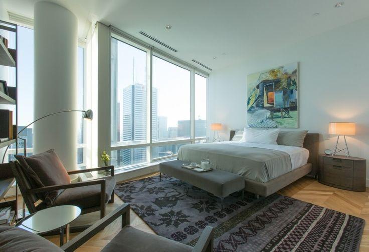 Master Bedroom in The Penthouse of Shangri-La Toronto