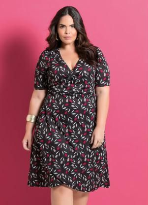 05de1beb8 Vestido Transpassado Floral Marguerite - Posthaus | Fashion | Big size  fashion, Fashion dresses e Plus size dresses